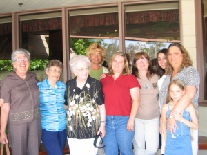 Carol, Glorine Quidor, Sis. Whittaker, Tamie, Lynn (Behr) Jones, Allison (The Other Cook Girl) Whittaker-Sanchez and daughter, Tonja and Tianna