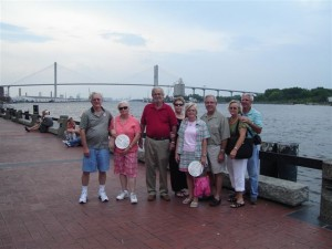 David Turner and Anne Turner, Kenny and Margie Turner, Jimmy and Joyce Brantley, and John and Yvonne Knox.  Unfortunately, Lana Turner Orr couldn't join us that weekend.  We enjoyed eating on River Street and taking a trolley tour of downtown Savannah.