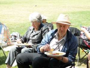 Mom and Dad Relaxing at the Picnic
